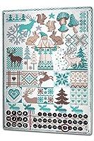 カレンダー Perpetual Calendar Christmas Retro Lindner Reindeer Santa Claus Tin Metal Magnetic