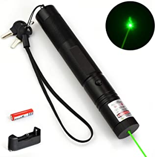 ThuZW Store Green Light Pointer High Power Visible Beam with Adjustable Focus for Hunting Hiking Outdoor, Demonstration Project Pen Tactical Handheld Flashlight