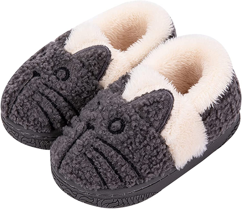 Kids Cute Cat House Slippers Girls Boys Warm Slippers Bedroom Home Slippers Indoor House Home Shoes