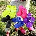 Pesp Cute Little Pet Dog Puppy Rain Snow Boots Shoes Booties Candy Colors Rubber Waterproof Anti-Slip (Blue, XX-Large)