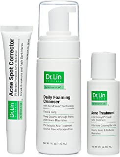 Dr. Lin Skincare 3 Step Acne Clarifying System for Moderate to Severe Acne