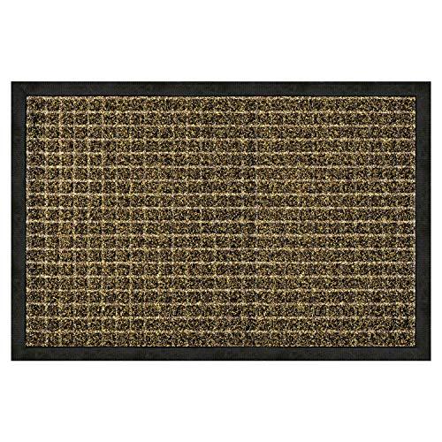 Olivo.shop – Felpudo rectangular de goma con efecto moqueta en dos tamaños y colores (beige, 45 x 75 cm)