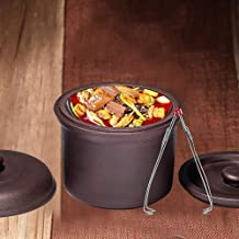 Cooker Pot Casserole Zisha Stew Ceramic Stew Ceramic Casserole Water Soup Pot Cookware With 2 Lids Steamer Unglazed Health...
