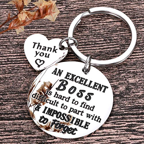 Boss Day Appreciation Gifts for Boss Lady Men Women him Her Keychain Gifts for Mentor Leader Coworker Leaving Job Going Away Retirement Thank You Birthday Gifts Colleague Goodbye Christmas Presents