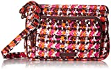 Vera Bradley Signature Cotton Little Hipster Crossbody Purse with RFID Protection, Houndstooth Tweed