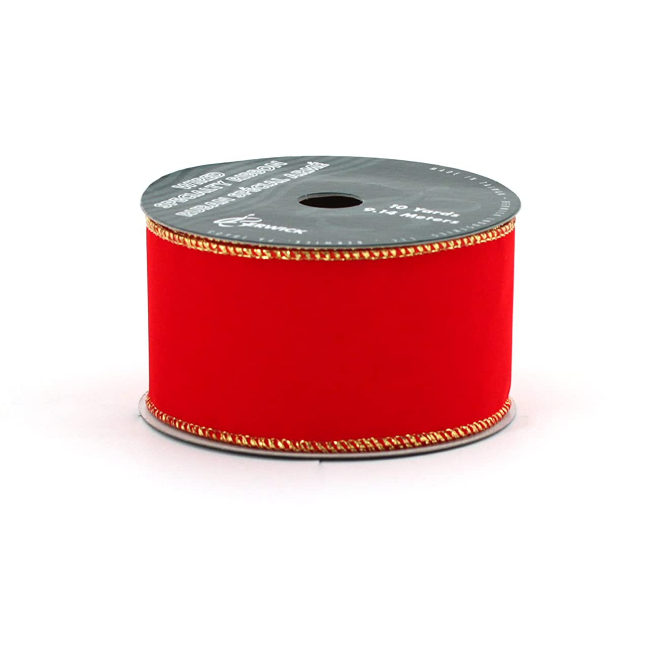 Berwick Wired Edge Velvet Craft Ribbon, 2-1/2-Inch Wide by 10-Yard Spool, Brick