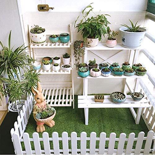 CHICIEVE 4 Stück weißer Kunststoffzaun Weihnachtsbaum Hochzeit Party Dekoration Miniatur Garten Gras Rasenkante Zaun (eine Packung ist 200 cm insgesamt)