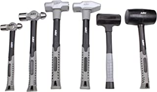 ABN 6 Piece Hammer Set - Forging Hammer Tool Set, Metal Working Tools and Equipment Pein and...