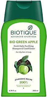 Biotique Bio Green Apple Fresh Daily Purifying Shampoo And Conditioner, 200ml