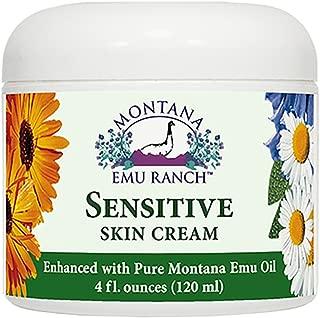 Montana Emu Ranch Sensitive Skin Cream - 4 Ounces - Enhanced with Montana Emu Oil