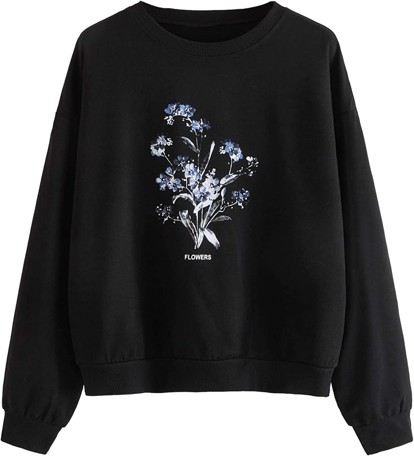 SOLY HUX Womens Casual Cow Print Mock Neck Long Sleeve T Shirt Top