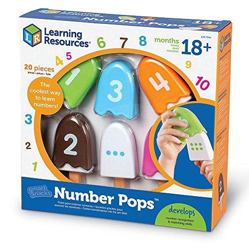 Learning Resources Smart Snacks Number Pops, Math Games for Kindergarten, Fine Motor Toy, Set of 10, Ages 18 mos+