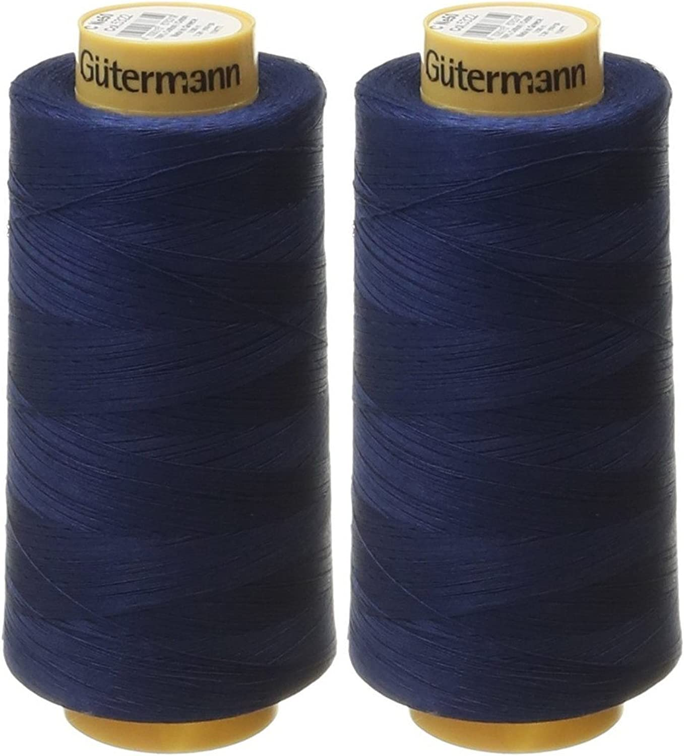 (2Pack, Navy)  2Pack  Gutermann Natural Cotton Thread Solids, 3281Yard each, Navy