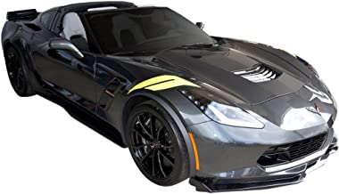 2016 2017 Corvette C7 Wide Body Grand Sport Z06 Hash Marks Decals Stripes Kit L&R - Torch Red