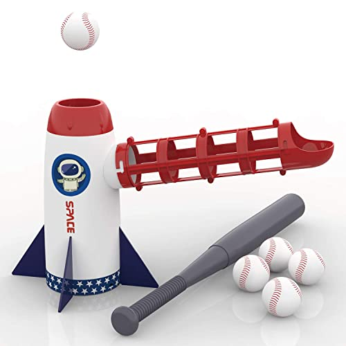 IPlay ILearn Backyard Baseball Pitching Machine Toys Training Sport Set Outdoor Pitcher