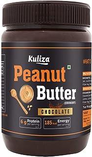 Kuliza Chocolate Spread High Protein Peanut Butter ( Zero Cholesterol, Dairy Free , Vegan) (Chocolate-Crunchy, 500 G)