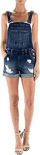 Kan Can Women's Classic Adjustable Straps Cuffed Hem Denim Bib Overalls Shorts X-Large KC5130D