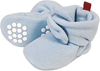 Wrapables Fleece Baby Booties with Anti-Skid Bottoms Blue 12-18 M