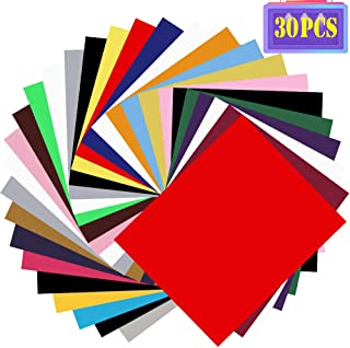 30 Pack HTV Heat Transfer Vinyl Bundle - Assorted Colors 12