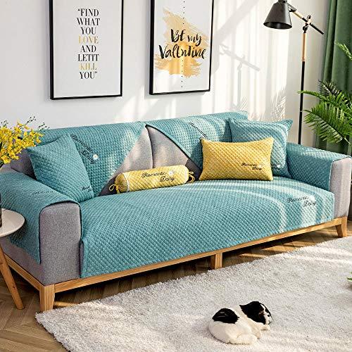 YUTJK Fashion Mehrzweck Sofabezug Sofaüberwurf aus Baumwolle, Couch Überzug, Bettüberwurf Tagesdecke Sofa Überzug, Schnittmuster Sofabezüge, verkauft in stück, Grün