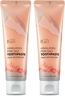 Rael Himalayan Pink Salt Toothpaste - 2Count, Natural, Vegan, Paraben-Free, Anti-Cavity, Fresh Breath, Oral Care, Fresh Soothing Mint (8.46oz / 240g, Total) by Rael