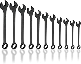 Neiko 03131A Jumbo Combination Wrench Set, Drop Forged Steel with Black-Oxide   Metric (34mm - 50mm)   11 Piece Set