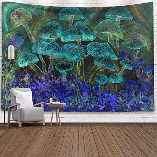 KHKJ Psychedelic Moon Starry Gran Tapiz Flor Colgante de Pared habitación Cielo Alfombra Dormitorio tapices Arte decoración del hogar Accesorios A6 95x73cm