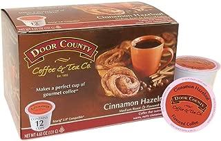 Door County Coffee, Single-Serve Cups for Keurig Brewers, Cinnamon Hazelnut, 12 Count