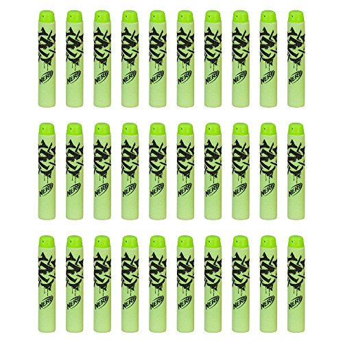 Official Nerf Zombie Strike 30-Dart Refill Pack,Multi Color