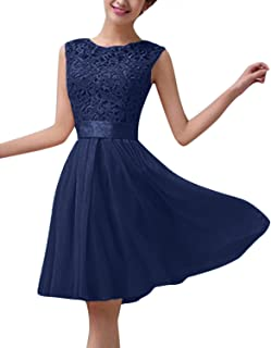 86d47d9c22 ZANZEA Women's Sexy Summer Chiffon Lace Formal Wedding Ball Evening Party  Maxi/Mini Dress