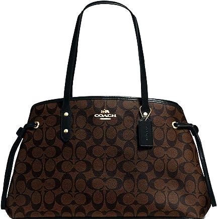 c18660192890 SALE ! New Authentic COACH Elegant Monogram Large Shoulder Tote Bag in  Brown Black