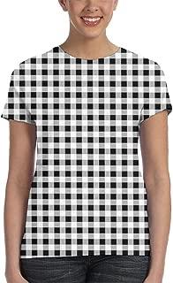 XYYtshirt Girl T-Shirt Tee Youth Fashion Tops Black and White Checks