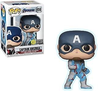 Funko Captain America [Glow-in-Dark] (f.y.e. Exc) Pop Vinyl Figure & 1 Compatible Graphic Protector Bundle (39086 - B)