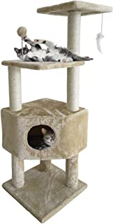Furhaven Pet Cat Tree   Tiger Tough Cat Tree House Condo Perch Entertainment Playground Furniture for Cats & Kittens - Available in Multiple Colors & Styles