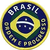 Club of Heroes 2 x Brasilien Aufnäher, Abzeichen gewebt 62 mm zum Aufnähen auf Kleidung Taschen Rucksack/Brazil Brasil Amazonas Flagge Fahne Wappen Patches