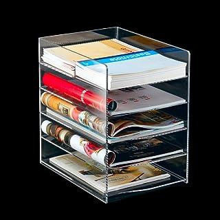 Nai-storage Horizontal acrílico Estante, Cafetería Bar Ocio Transparente Soporte de CD Display - Cinco Capa de Disco del Juego de Caja de Almacenamiento (Color : Clear, Size : 23.5 * 30.5 * 33cm)