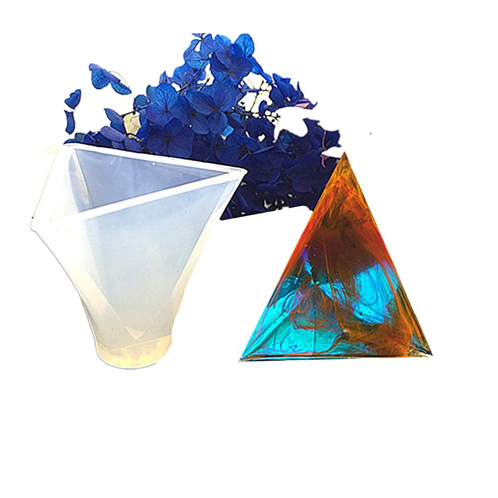 HOUTBY Resin Casting Molds Silicone Triangular Pyramid Shape DIY for Jewelry Craft Making Necklace Pendant Set of 4