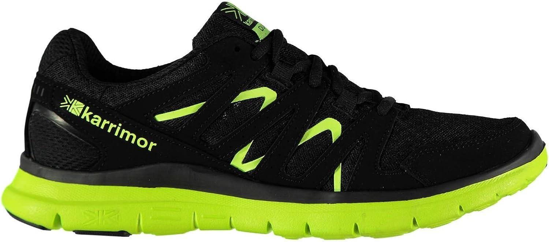 Karrimor Duma Running shoes Mens Black Yellow Fitness Jogging Trainers Sneakers