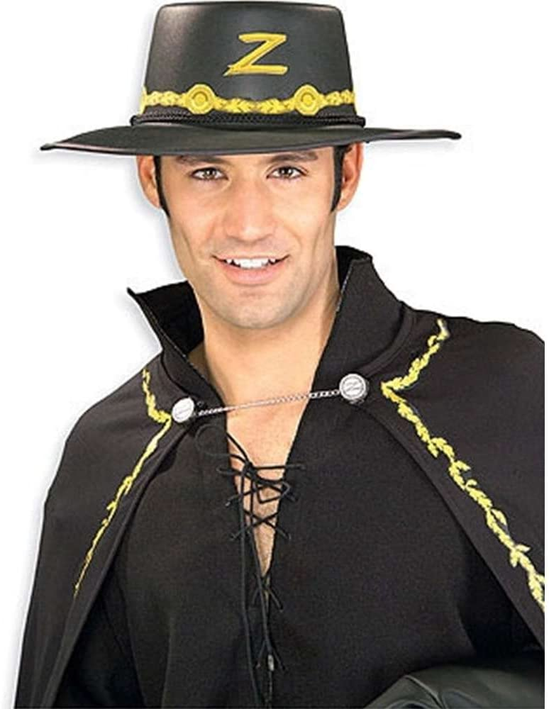 Rubie's Costume Year-end gift Co specialty shop Zorro Adult Standard Hat Gold Black