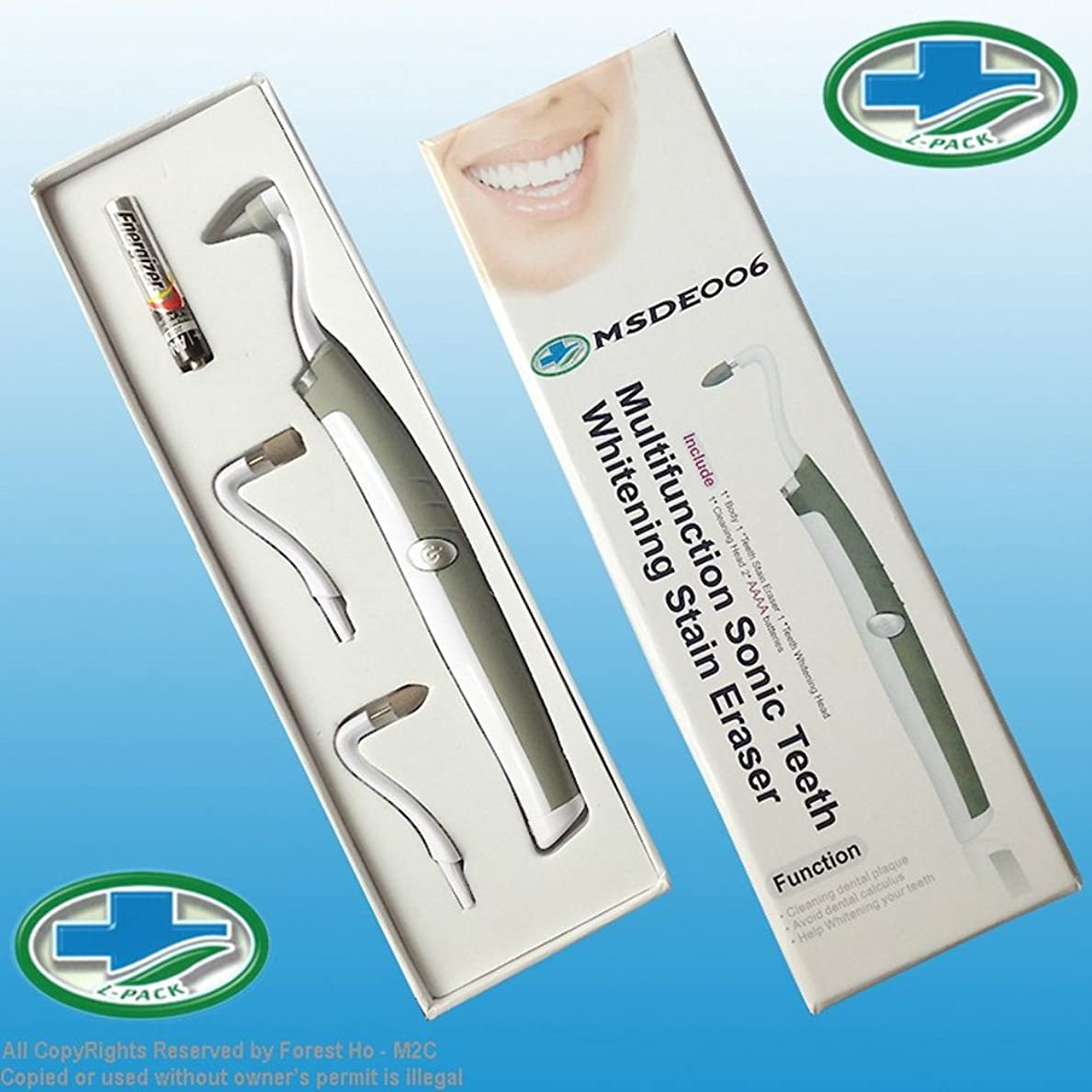 円周濃度雄大なRaiFu 多機能 歯を白くする 歯の汚れを消す ライトと消しゴムプラー クリムーバー