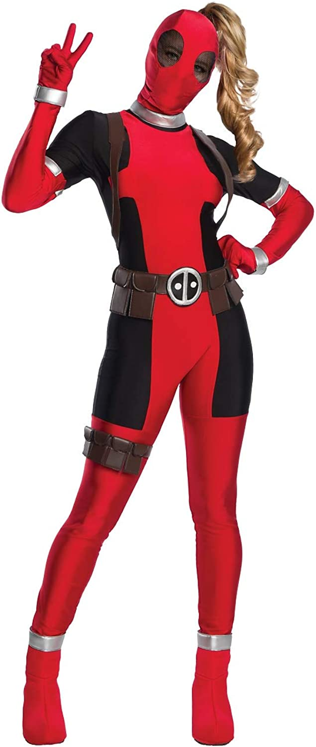 Charades Deadpool Fancy Dress Costume Wouomo X-gree