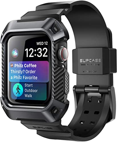 SUPCASE [Unicorn Beetle Pro] Designed for Apple Watch Series 6/SE/5/4 [44mm], Rugged Protective Case with Strap Bands...
