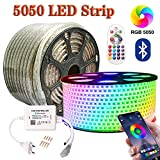 SIGHTLING Tira de Luz LED Impermeable LED Strip RGB 20M(65.6 ft) 5050 SMD 60LEDs/M + 24 Key Bluebooth Wifi Controlador