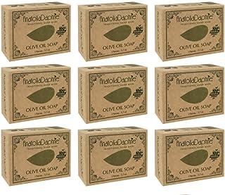 Sponsored Ad - Olive Oil Soap Bar - Handmade 100% Pure Natural & Vegan - 5.7 oz Each Bar (9 Bars)