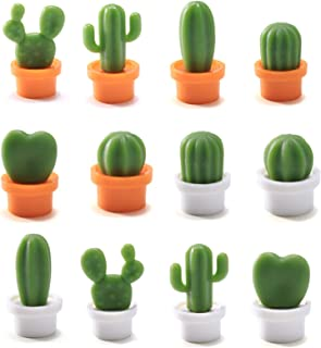 12pcs Aimants de Réfrigérateur, Plantes Succulentes Mignonnes Aimants pour Réfrigérateur, Aimants Décoratifs pour Le Cadea...
