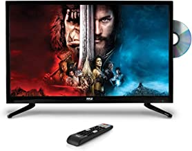 """Upgraded Premium 32"""" DVD TV - 1080p Multimedia Disc Player, Ultra HD TV, LED Hi Res Widescreen Monitor w/ HDMI Cable RCA Input, LED TV Monitor, Audio Streaming, Mac PC, Stereo Speakers, Wall Mount"""