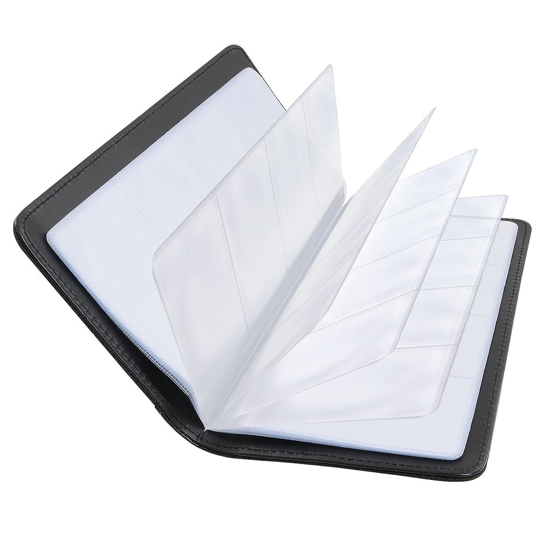 BOSPA ビジネス用 名刺ホルダー 名刺入れ 大容量 192枚の名刺収納 カードケース(ブラック)