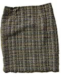 Sunny Leigh Women's Work Skirt 12 Petite Black Camel