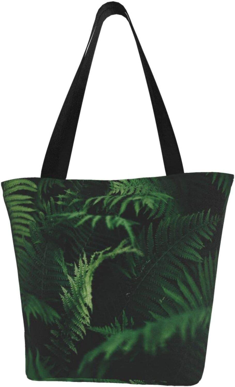 Max 77% OFF AKLID Green Ferns in Dark Area Canva Large Resistant Extra Water Elegant