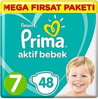 Prima Bebek Bezi Aktif Bebek 7 Beden XX Large Mega Fırsat Paketi, 48 Adet